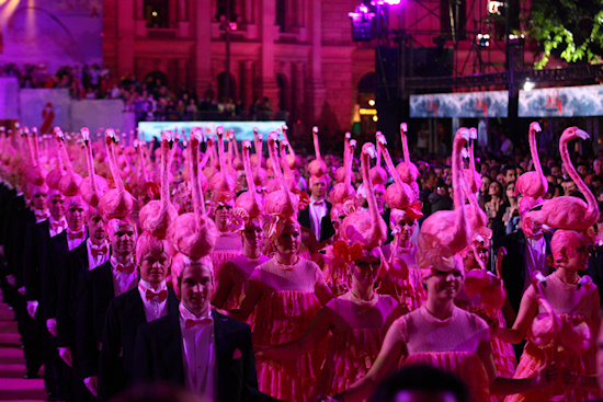 Life Ball 2011 Flamingo Ballet