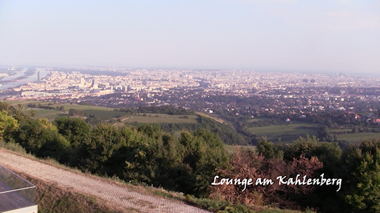Lounge am Kahlenberg Wien Panorama