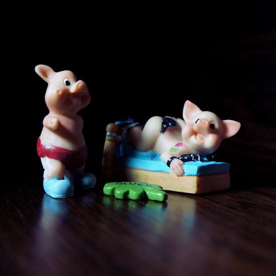 Miss Piggy in Bondage Bed