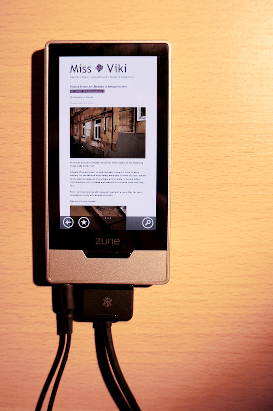 Miss Viki blog tested on Zune