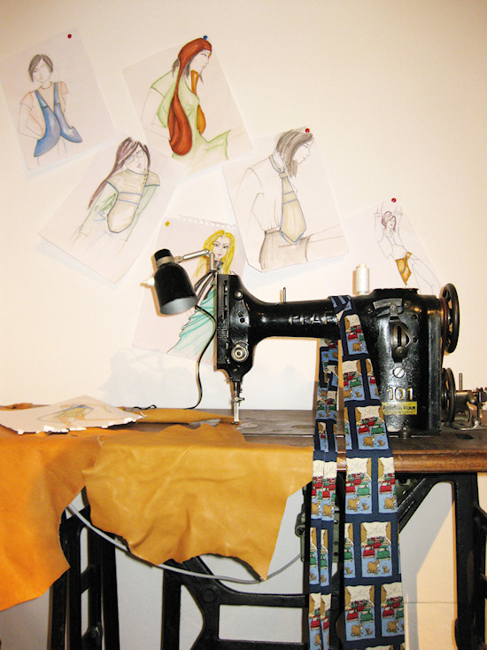 MRJ Style Sketches and Sewing Machine