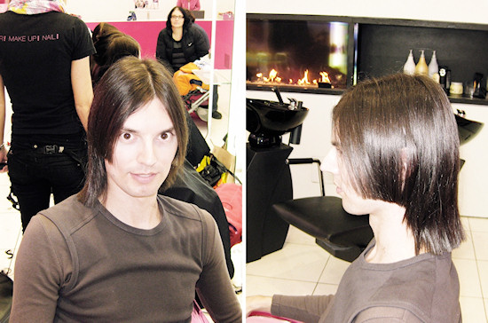 New haircut with steps