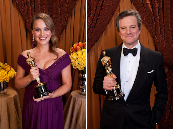 Oscars 2011 Natalie Portman and Colin Firth