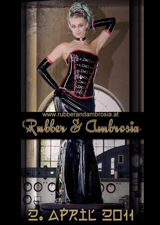 Rubber & Ambrosia: Fetish Fashion Ball Poster