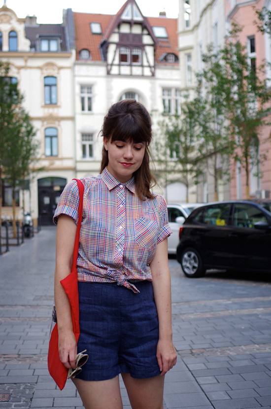 Ruby Slipper Journey wearing Vintage Gingham Shirt