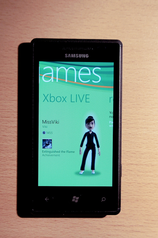 Samsung Omnia 7 Windows Phone 7 Xbox LIVE Hub