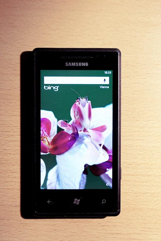 Samsung Omnia 7 Windows Phone 7 Bing Orchid Mantis