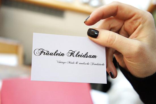 Vintage Shop Fräulein Kleidsam: Business Card