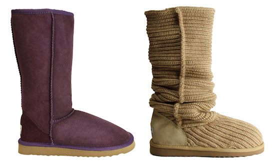 Whooga ugg boots Tall Violet and Tan Weave