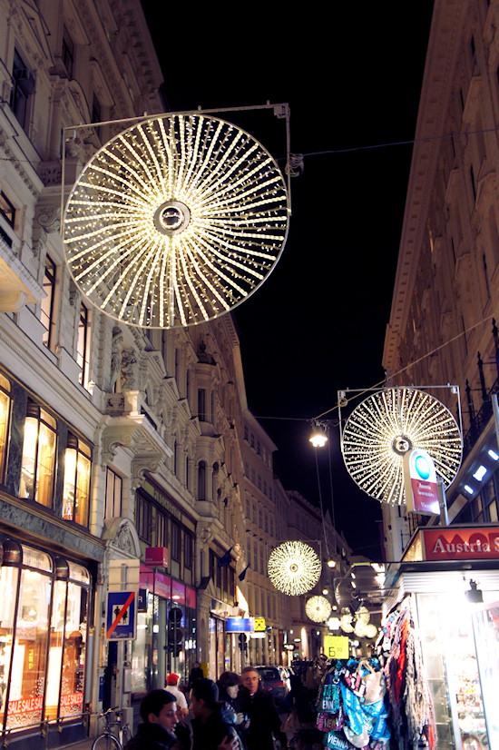 Xmas Lights Vienna: Spiegelgasse