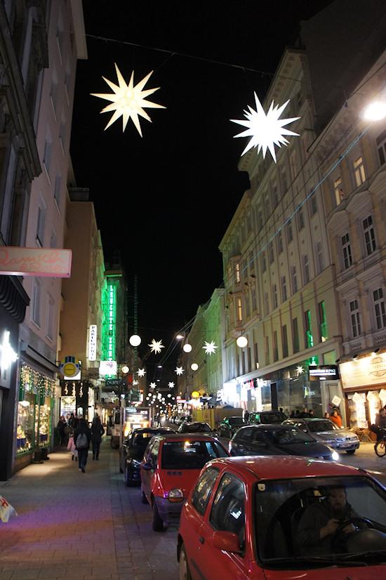 Xmas Lights Vienna: Neubaugasse